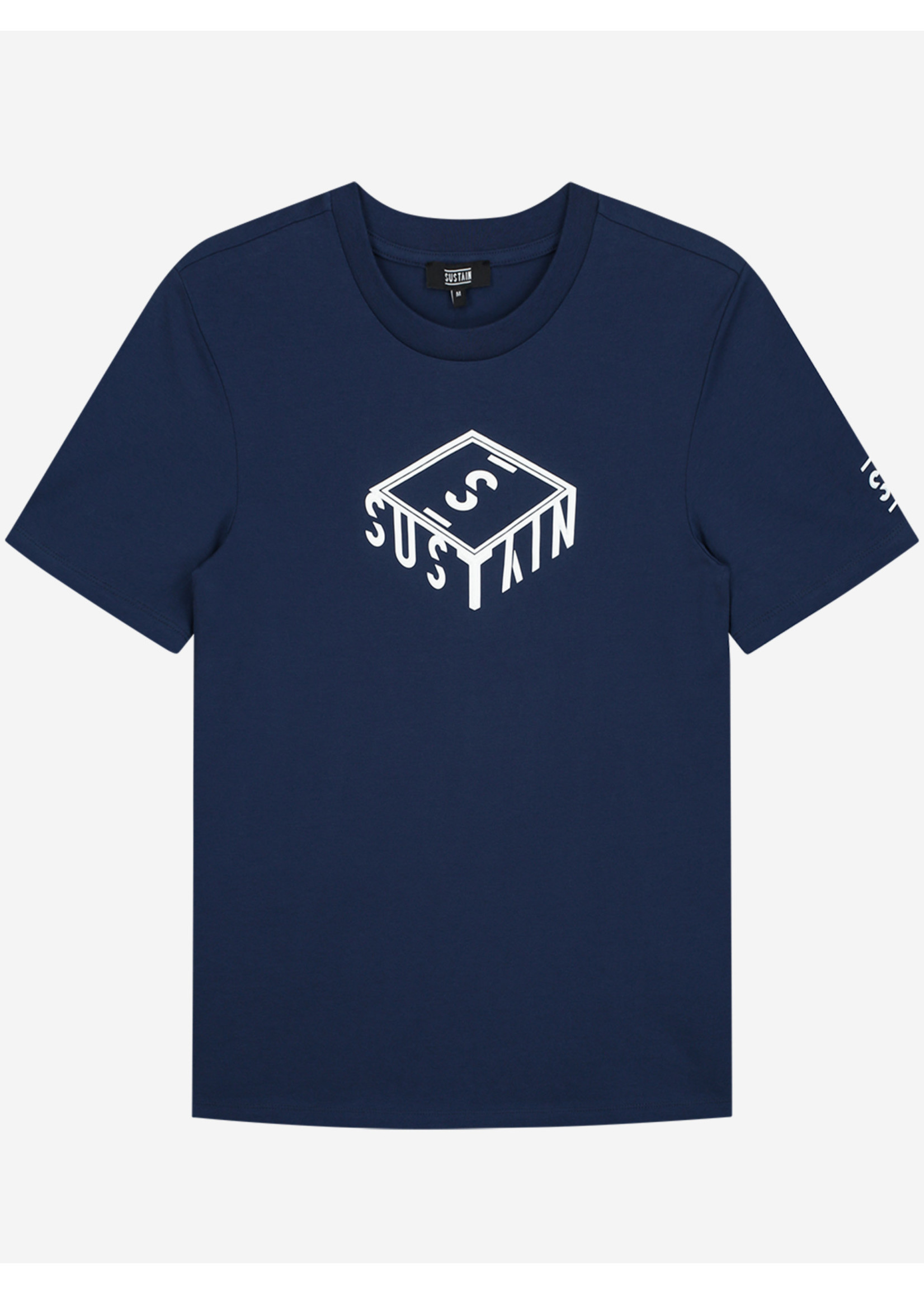 Sustain Sustain 3D Box Logo Regular - Blue