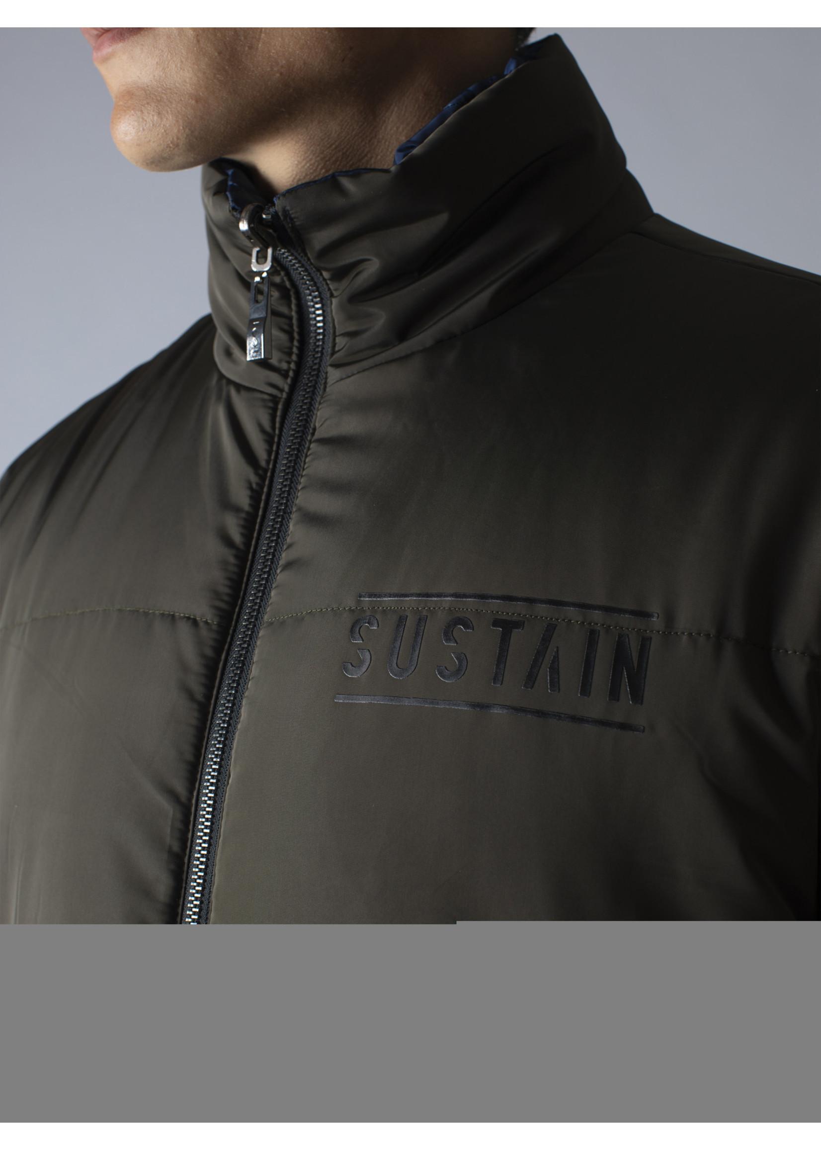 Sustain Sustain Reversible Puffer Jacket - Nine Iron/Blue