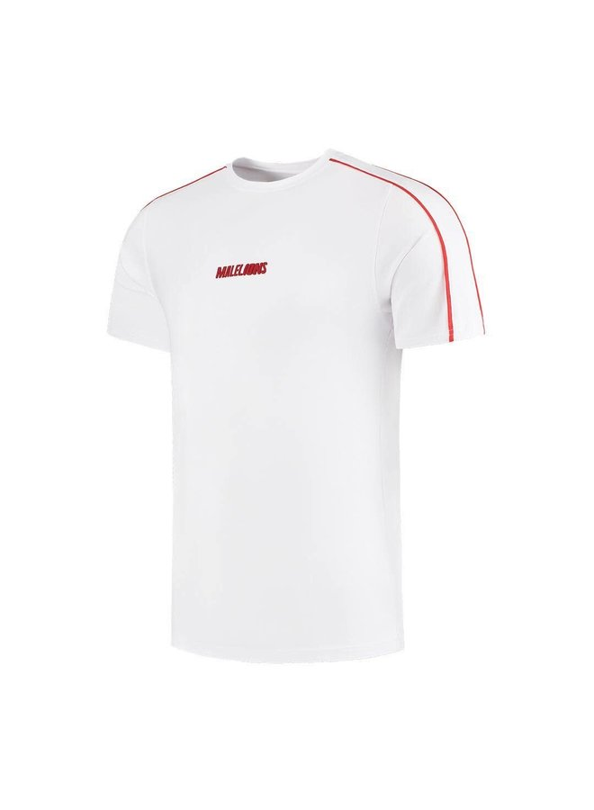 Malelions Junior Thies T-Shirt - White/Red