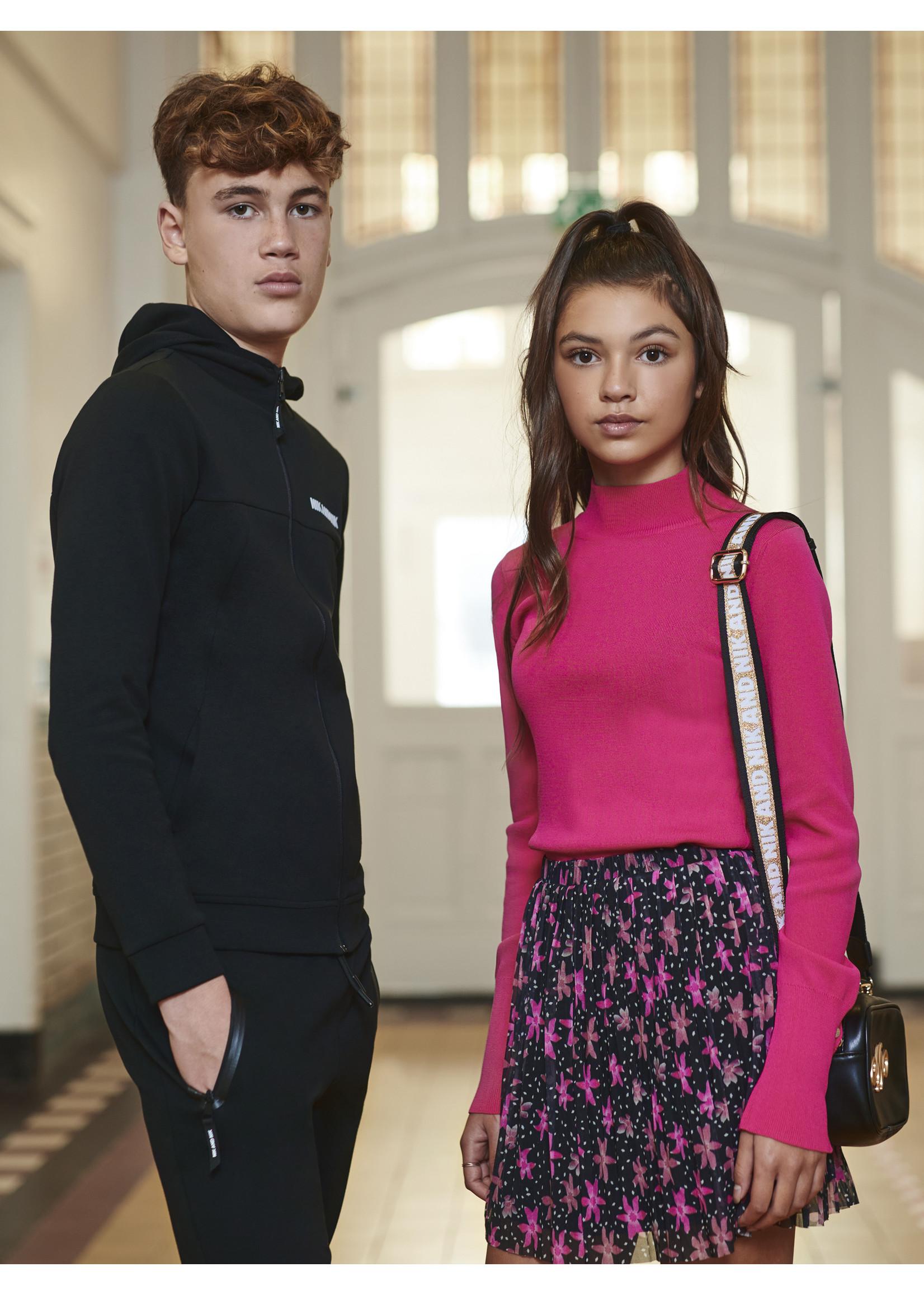 NIK&NIK Nik&Nik Tessa Big Flower Skirt - Black