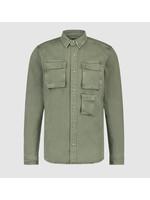Purewhite Purewhite Utility Shirt - Army Green