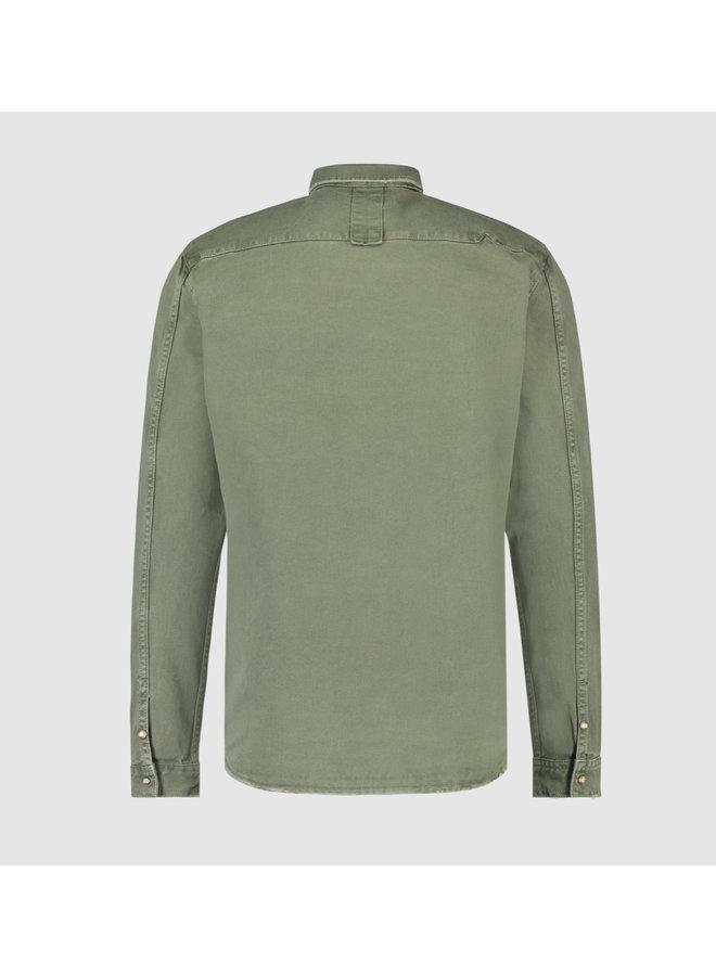 Purewhite Utility Shirt - Army Green