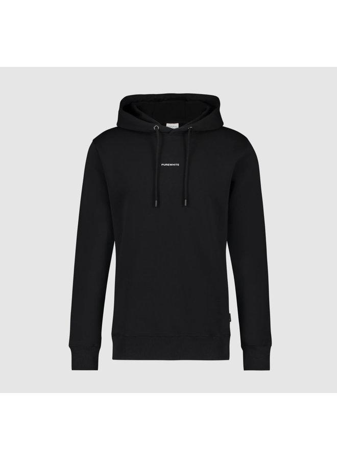 Purewhite Essential Logo Hoodie - Black