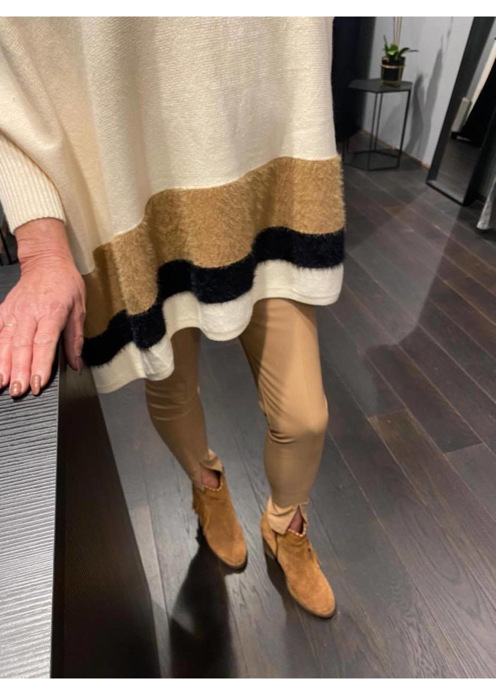 Lether Look Legging Beige
