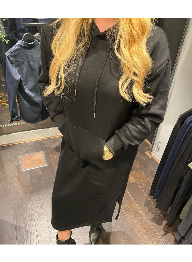 Sweaterdress Hoodie Silla  - Black