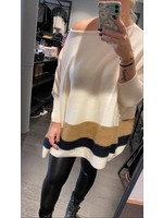 Millies Loose Fit Sweater - Off White/Brown