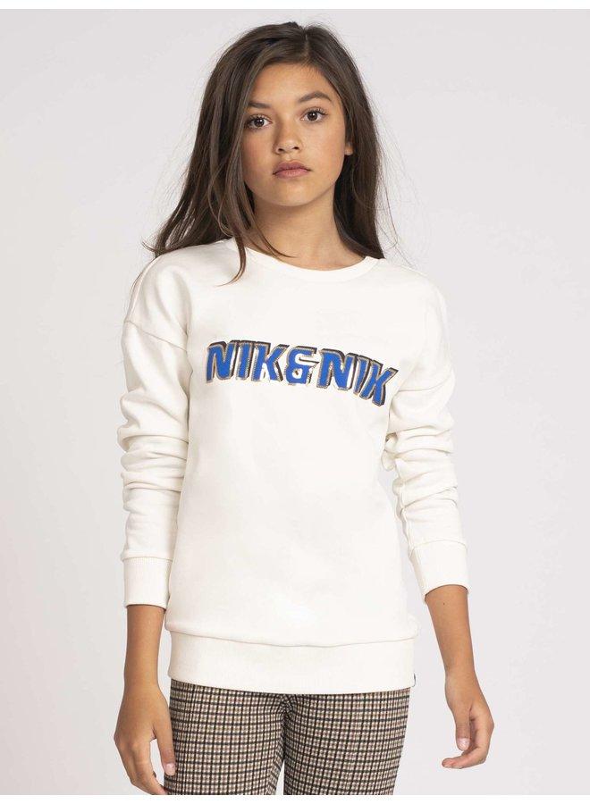 NIK&NIK Dolly Sweater - White