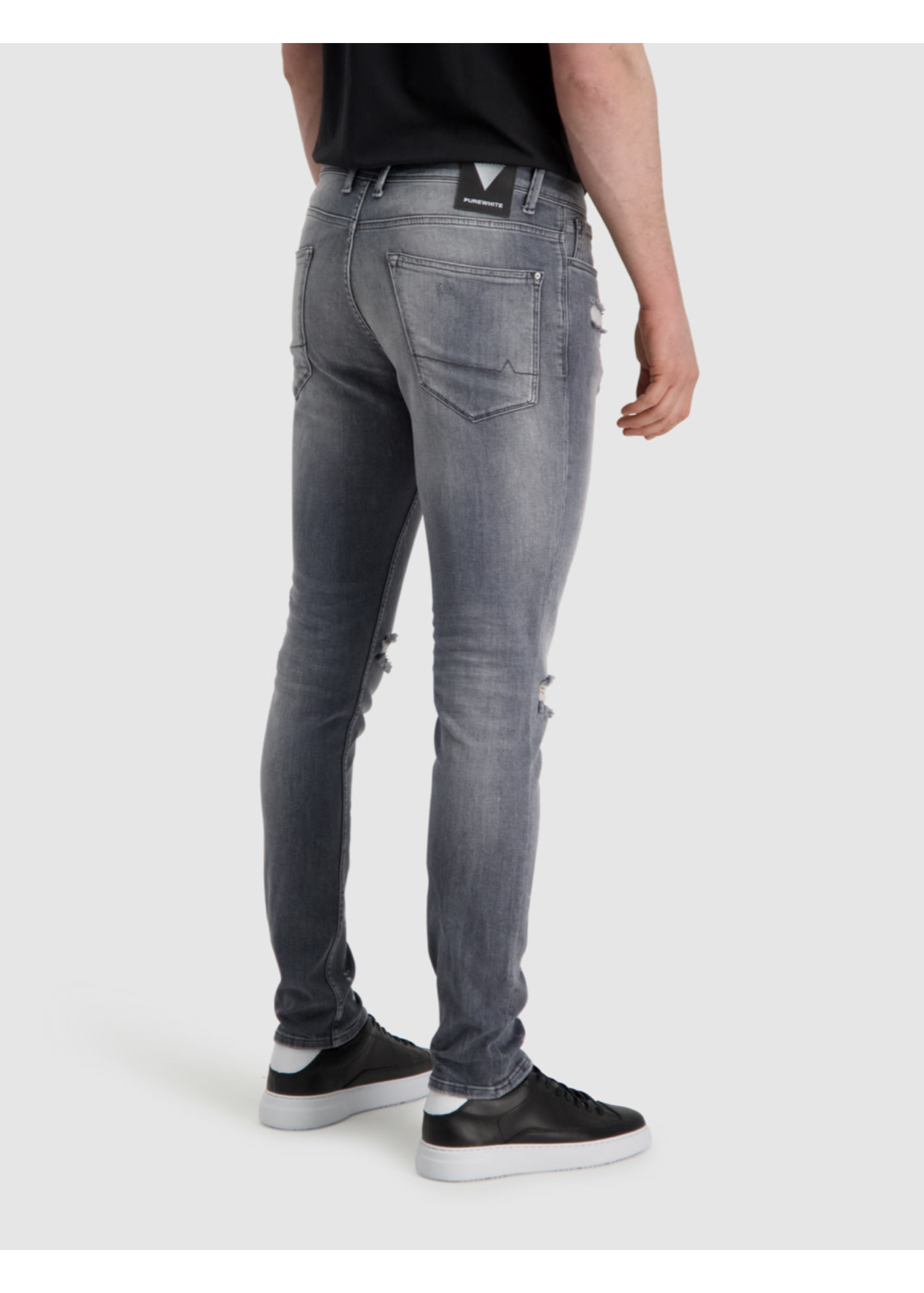 Purewhite Purewhite Jeans The Jone 0392 Damaged - Grey
