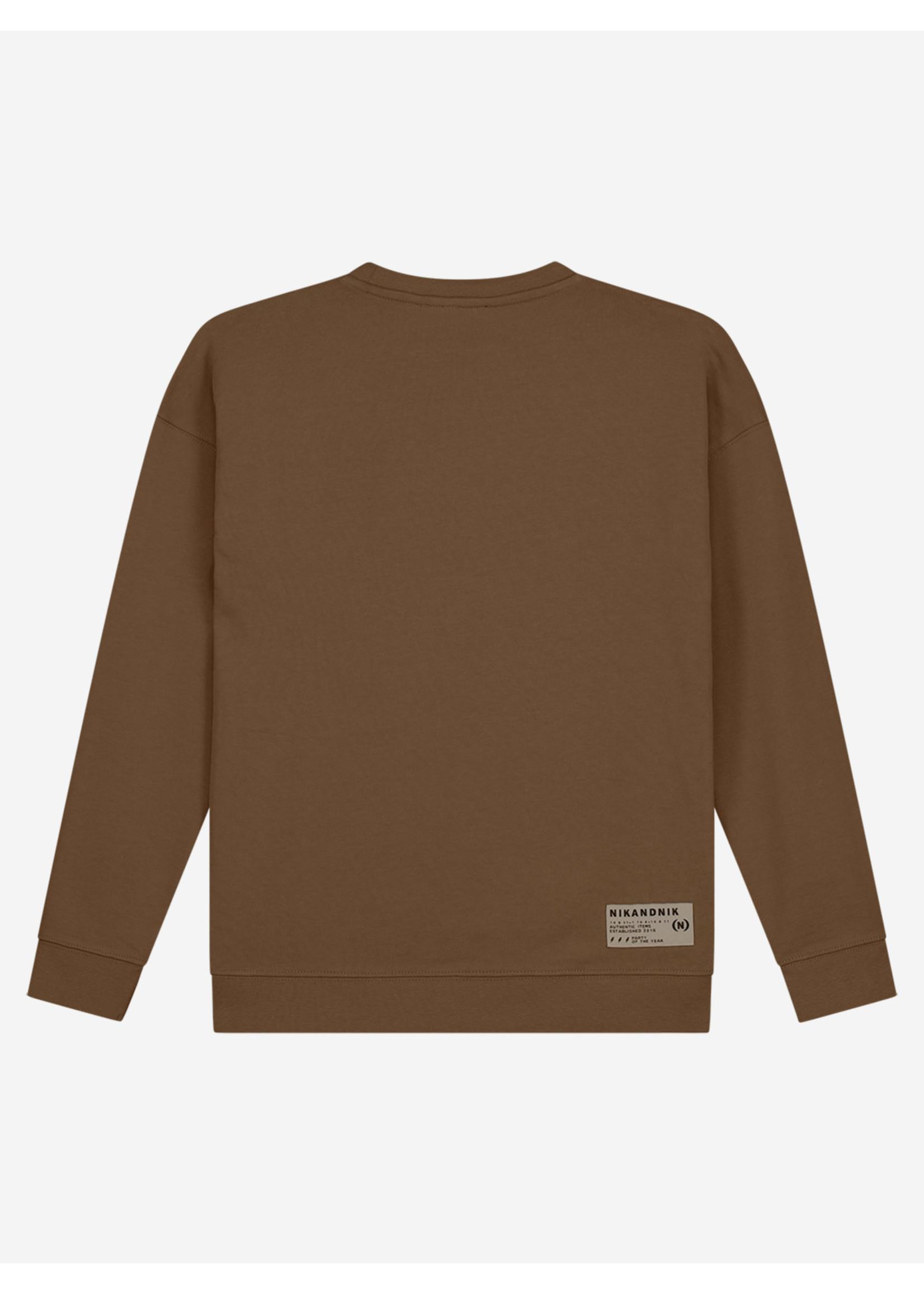 NIK&NIK Nik&Nik Not Social Sweater - Warm Brown