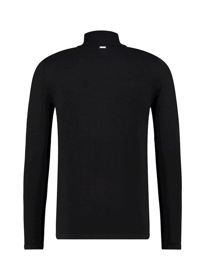 Purewhite Knit Turtleneck - Black