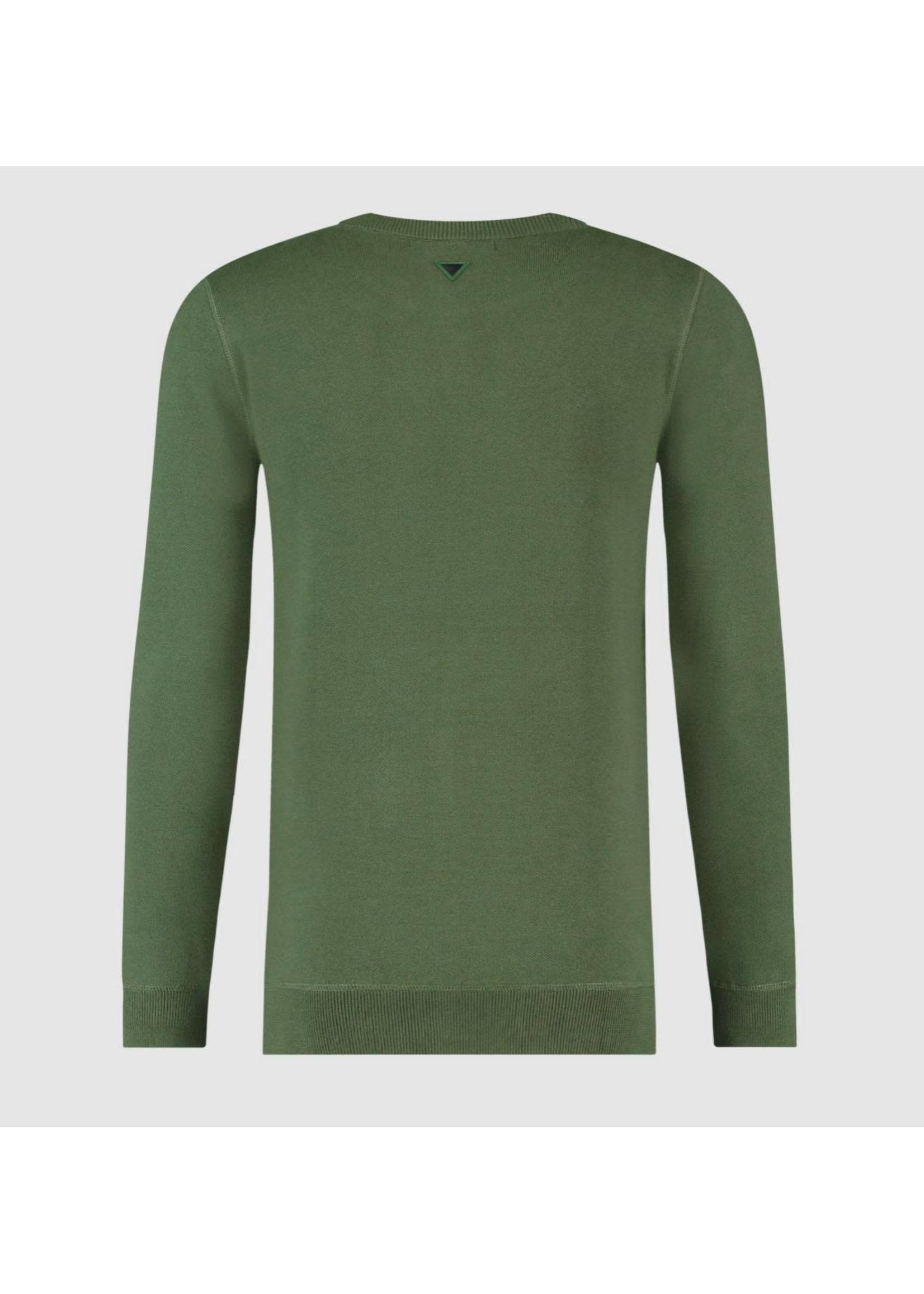 Purewhite Purewhite Knitted Crewneck - Army Green