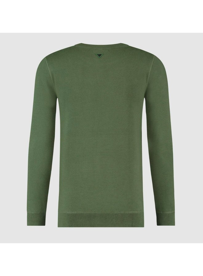 Purewhite Knitted Crewneck - Green