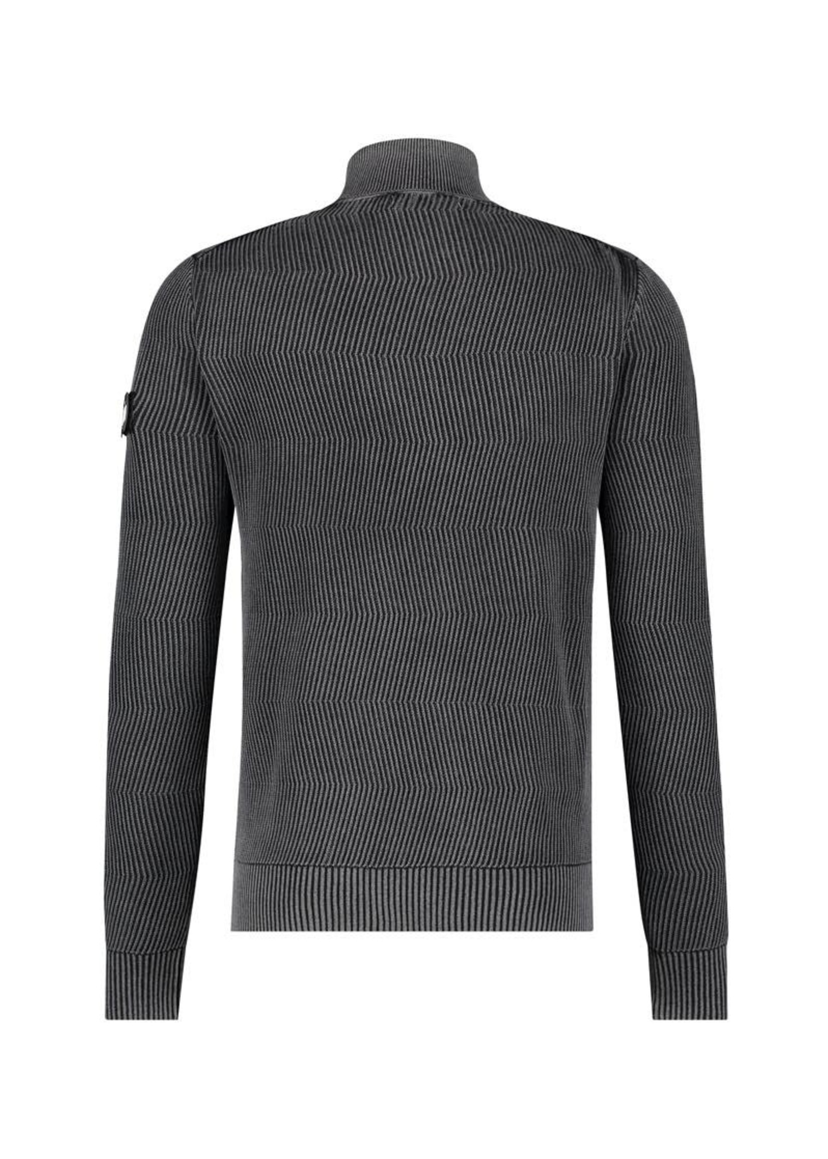 Purewhite Sweater Jacquard Knitted Turtleneck - Black