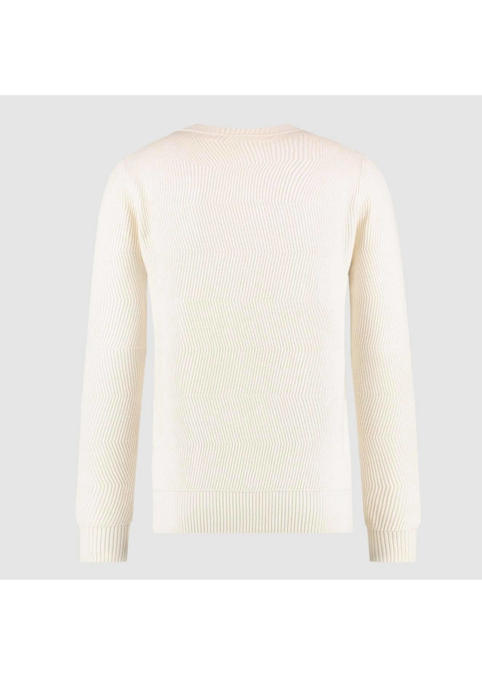 Purewhite Sweater Jacquard Knitted - Off White