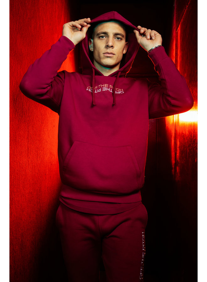 Off The Pitch The Soul Hoodie - Dark Red