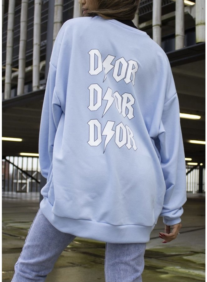 DOR Oversized Sweater - Blue