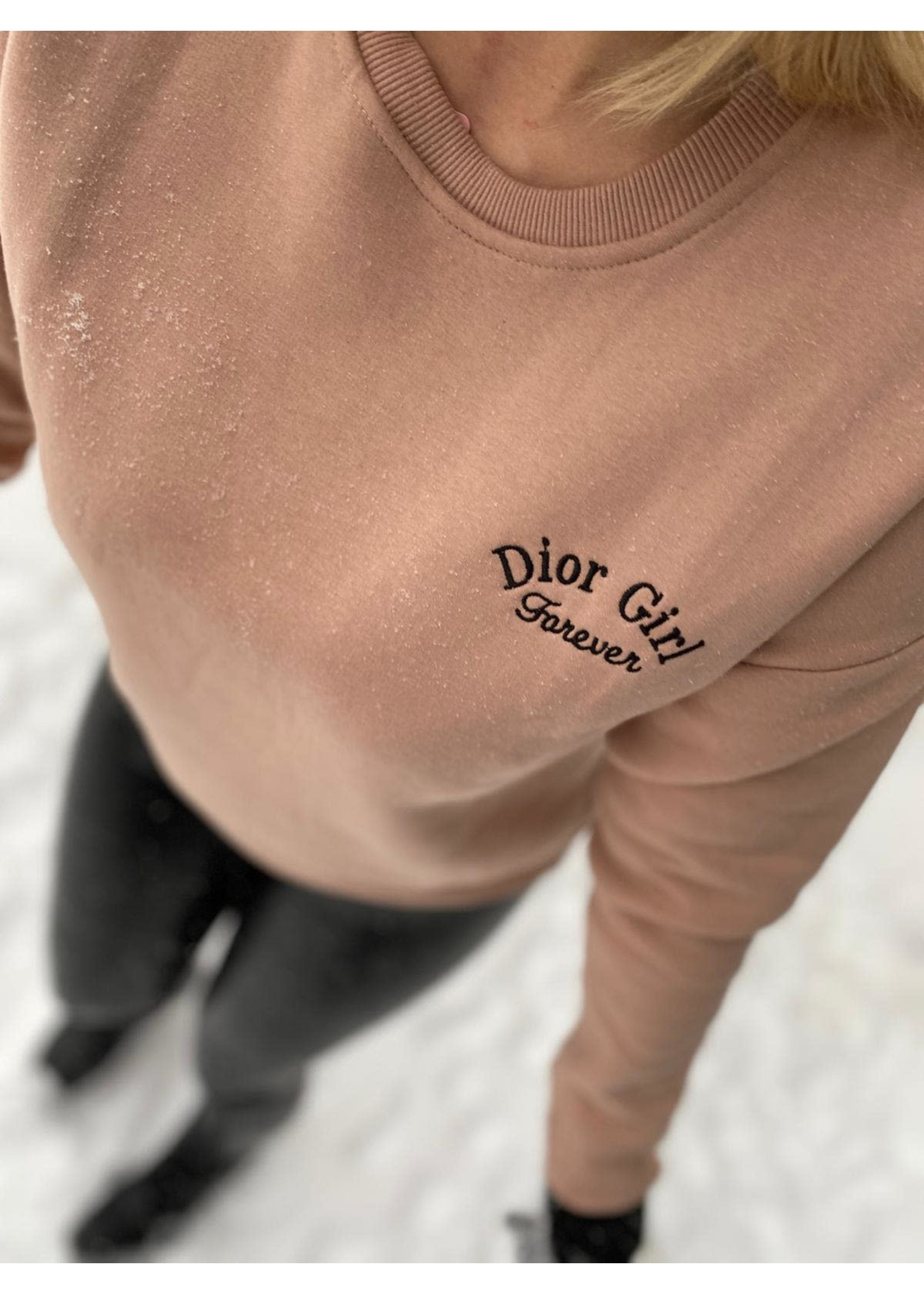 D Girl Forever Sweater - Nude