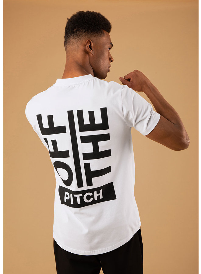 OFF THE PITCH The Saturn Slim Fit Tee - White
