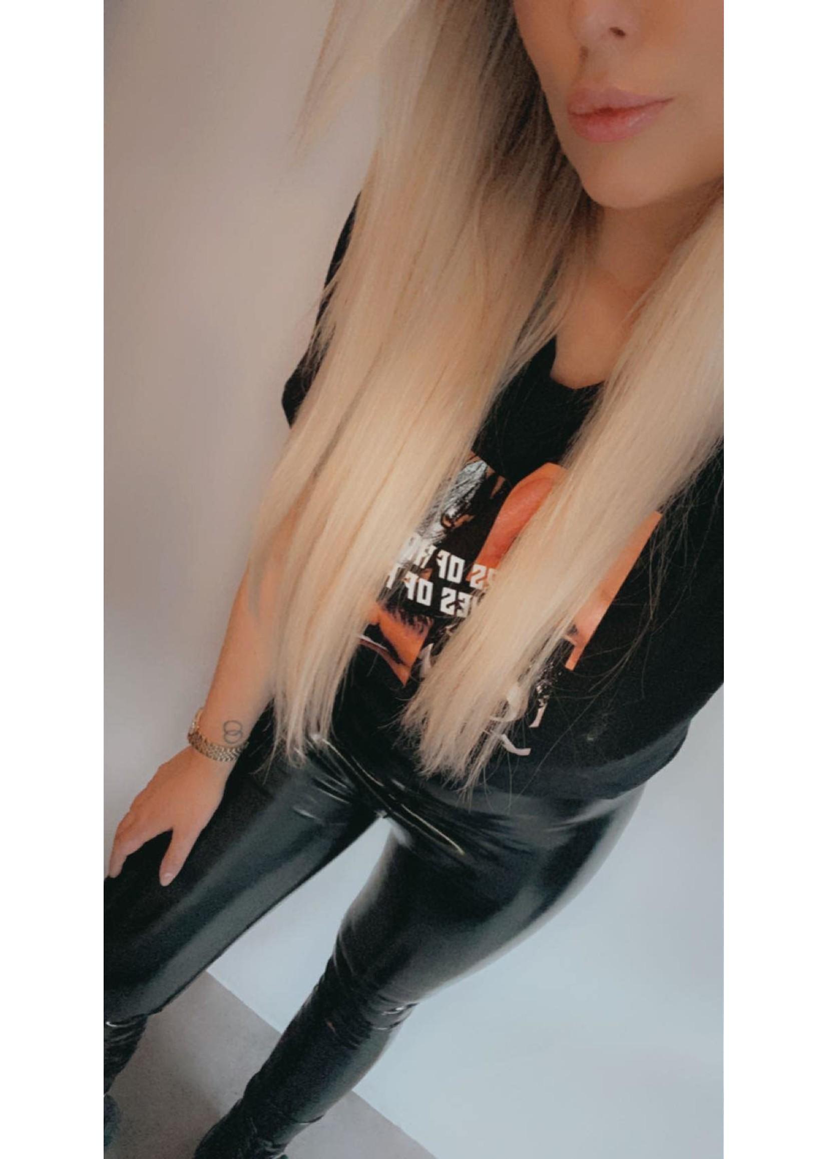 Vinyl legging Black