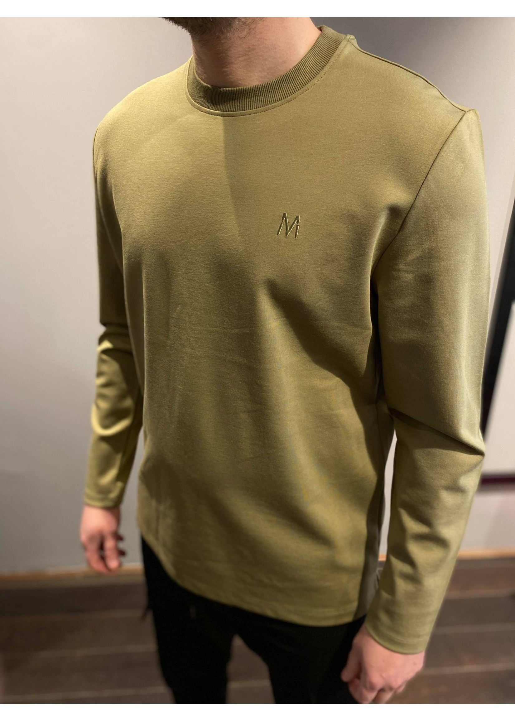 MARCH THE LABEL Basic Longsleeve - Army
