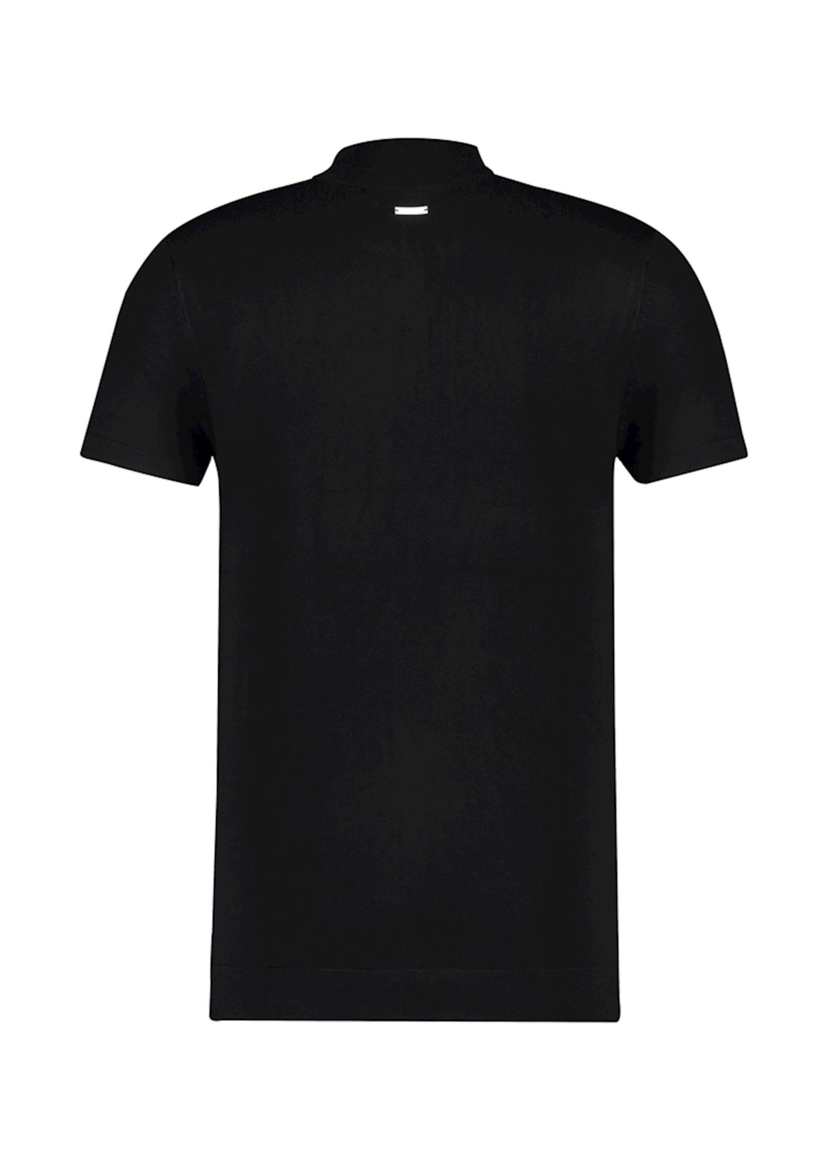 Purewhite Knitted Half Zip T-shirt - Black