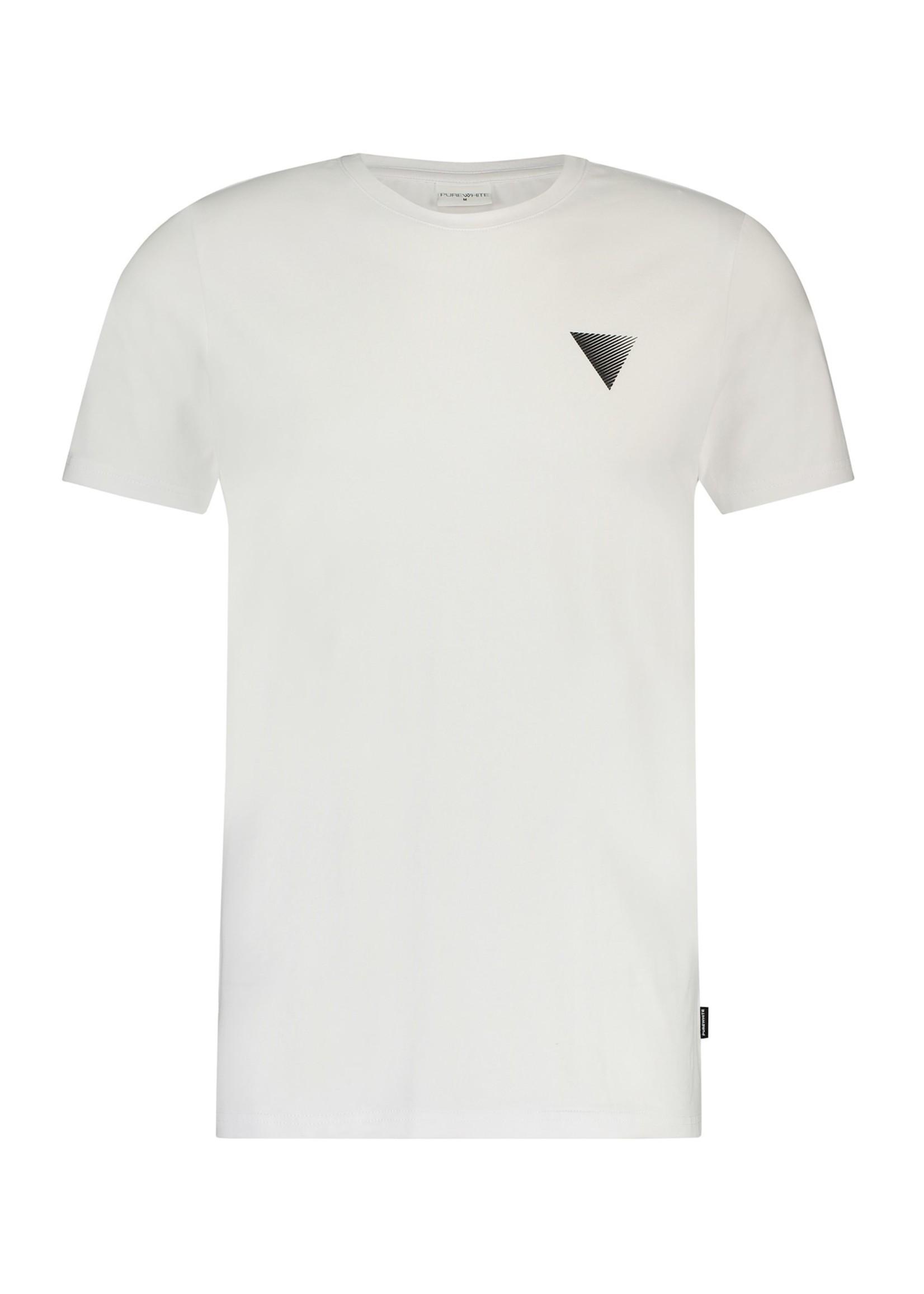 Purewhite Triangle Print T-shirt - White