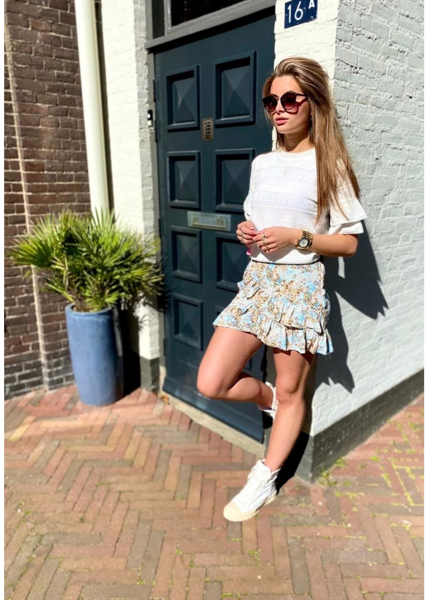Flower Skirt Blue