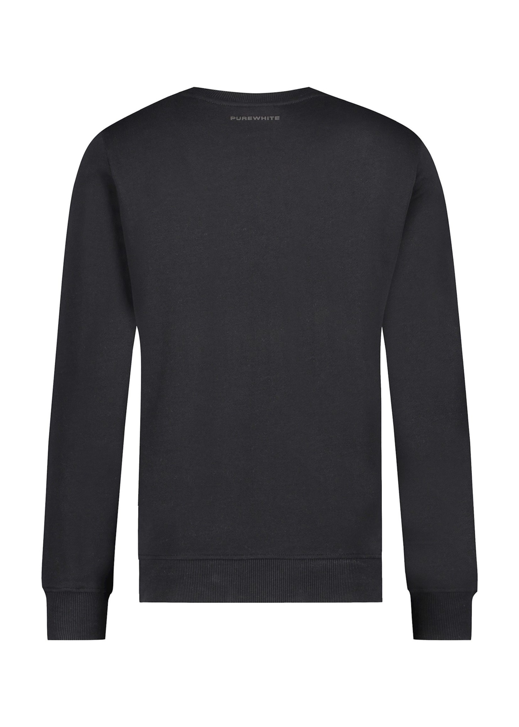 Purewhite Logo Stripe Sweater - Black