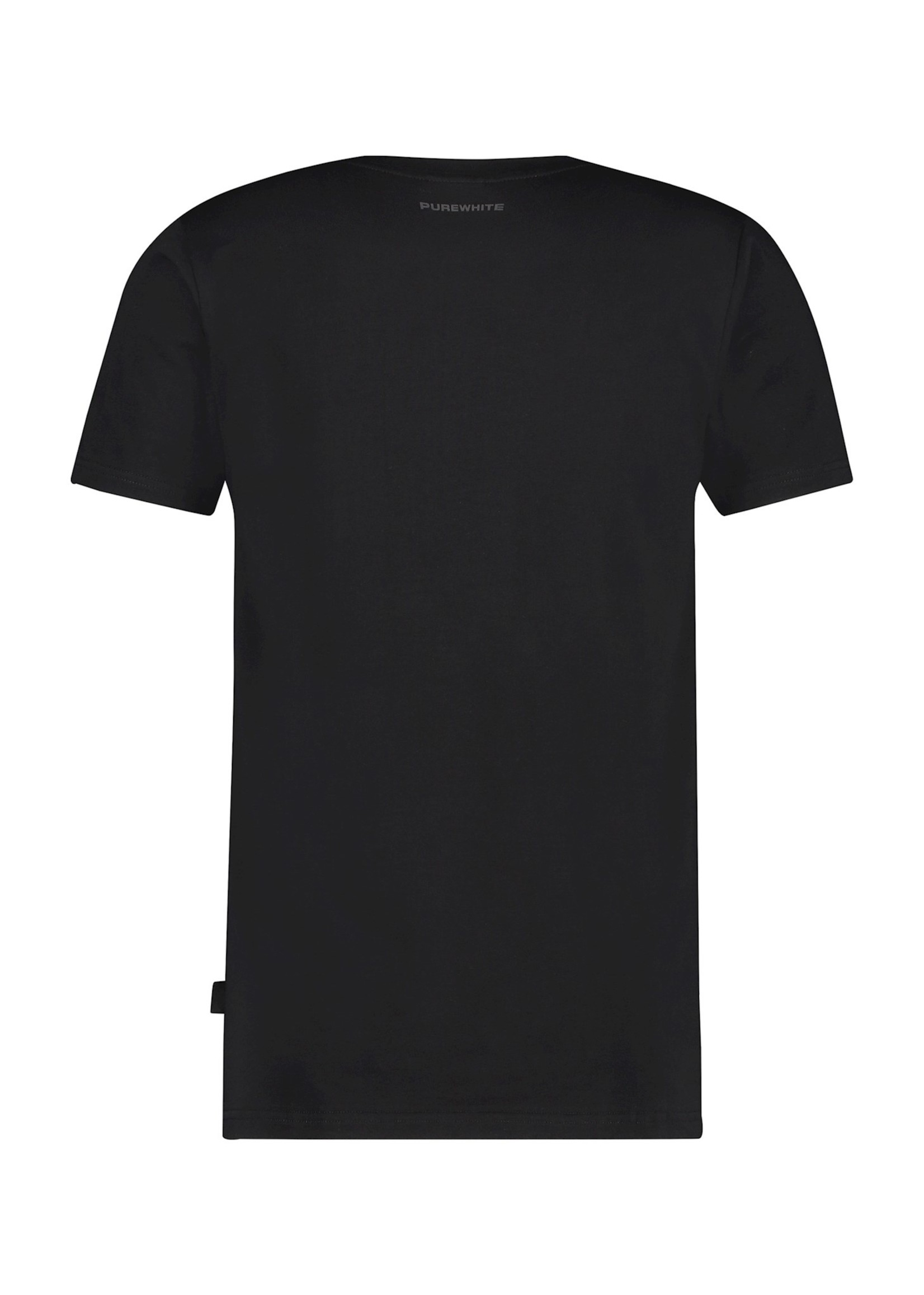 Purewhite Logo Stripe - Black