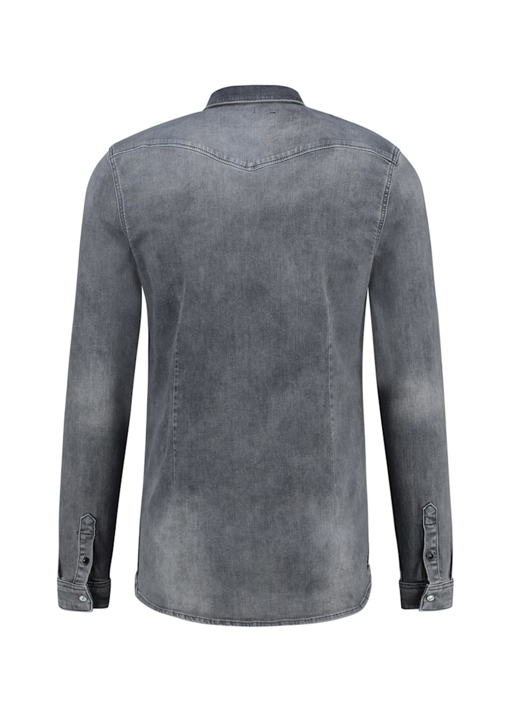 Purewhite Denim Shirt - Mid Grey