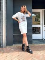 T-Shirt Dress Tiger - White