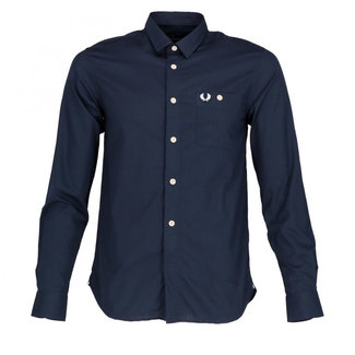 Fred Perry Overhemd Donkerblauw