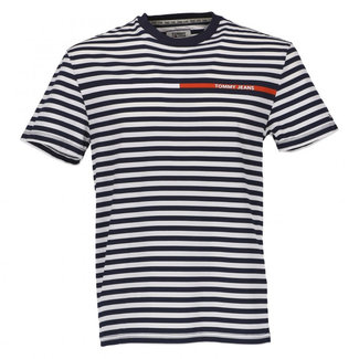 Tommy Jeans T-shirt Donkerblauw/Wit