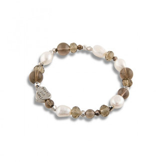 Pearls for girls Armband bruin