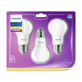 Philips 3-pack LED-lampen 5,5W (40W)