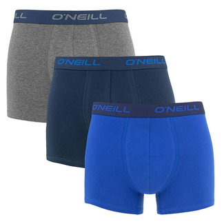 O'Neill 3-pack Boxershorts Blauw/antraciet