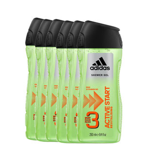 Adidas 6-pack Showergel Active Start