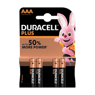 Duracell Plus AAA-batterijen - 4 stuks