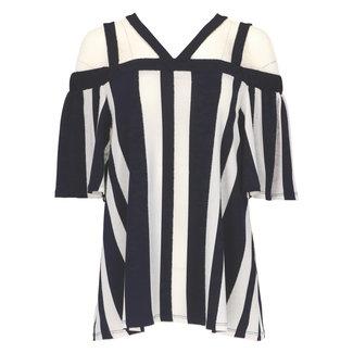 Frank Lyman Shirt Donkerblauw/Wit