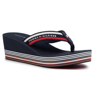 Tommy Hilfiger Teenslippers Donkerblauw