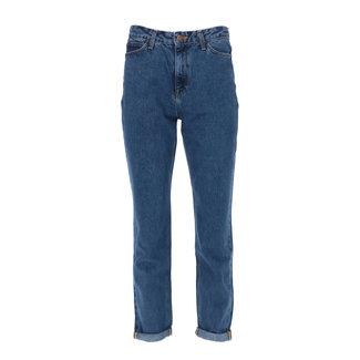 Lee Jeans Mom Straight Blauw