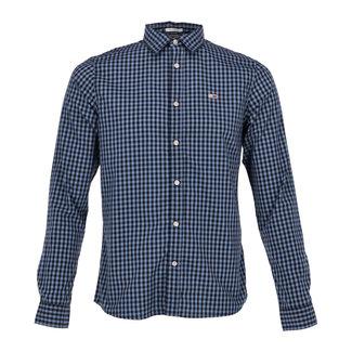 Tommy Jeans Overhemd Blauw/Zwart