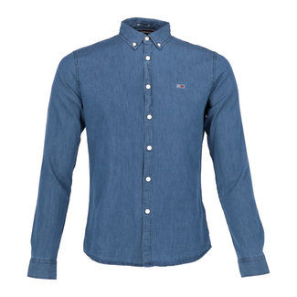 Tommy Jeans Jeanshemd Blauw