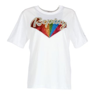 Replay T-shirt Wit