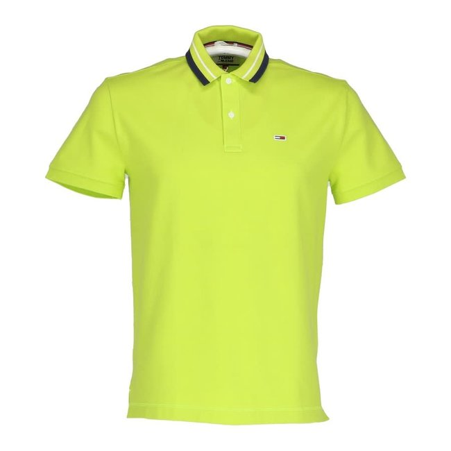 Tommy Jeans Polo Limoengroen