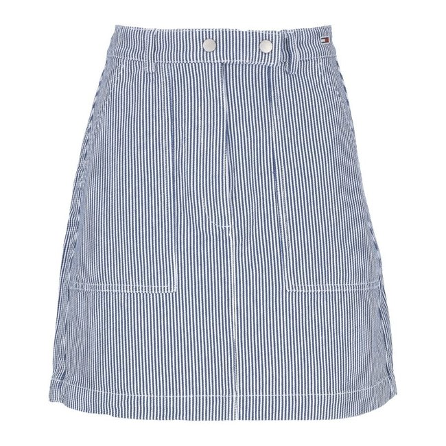 Tommy Jeans Rok Wit/Blauw