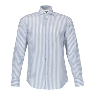 Van Gils Overhemd Wit/Blauw