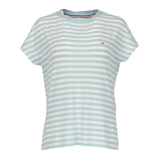 Tommy Jeans Shirt Lichtblauw/Wit