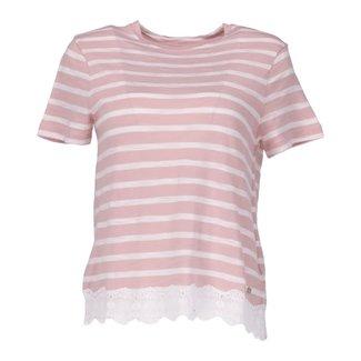 Superdry T-shirt Roze/Wit