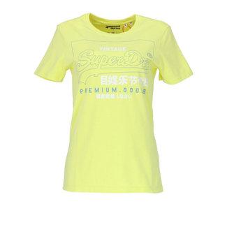 Superdry T-shirt Geel